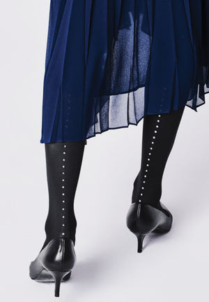 Venezia Dotted Lurex Back Seam Tights by Fiore