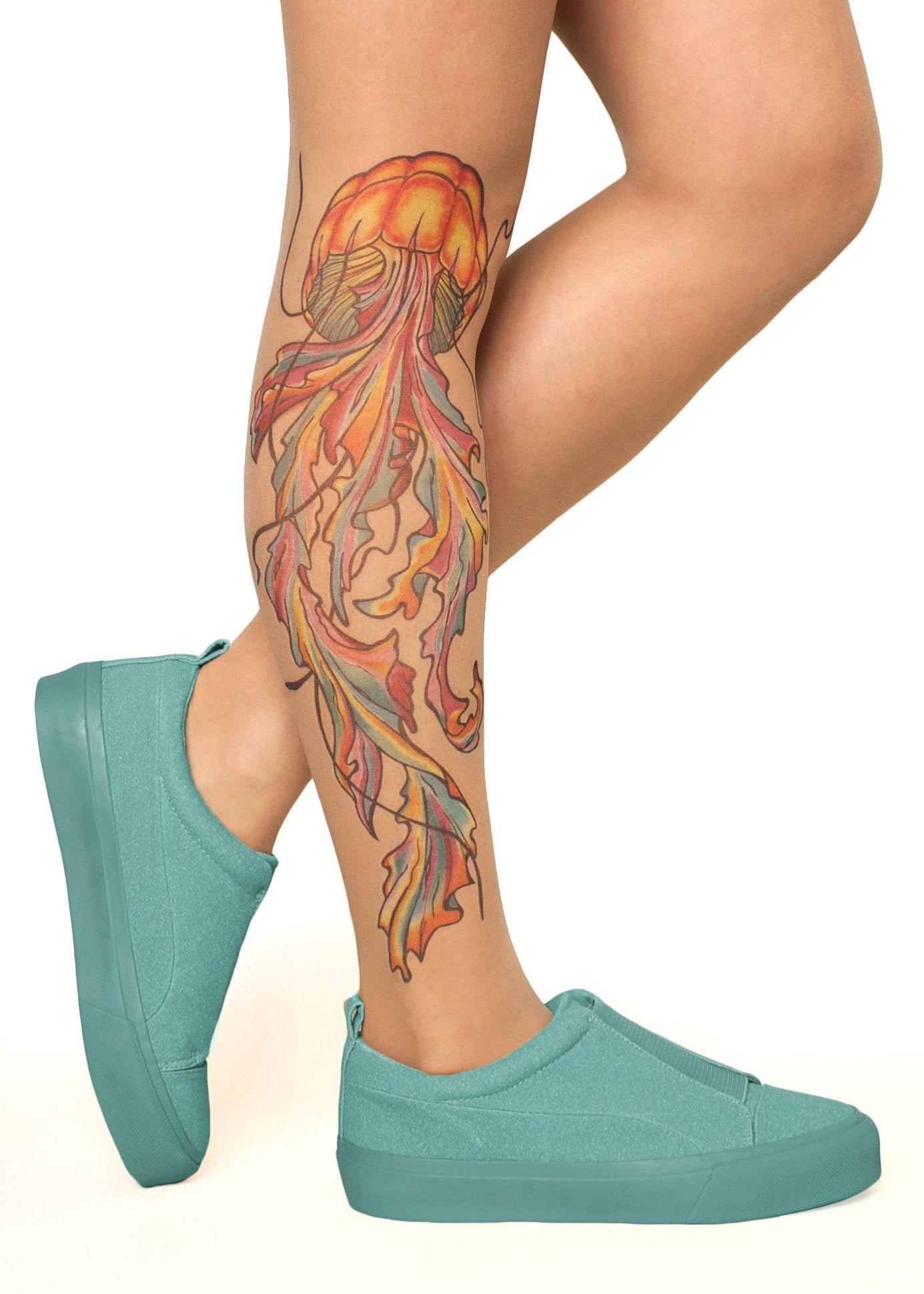 Watercolour Jellyfish Tattoo Tights By Stop Stare