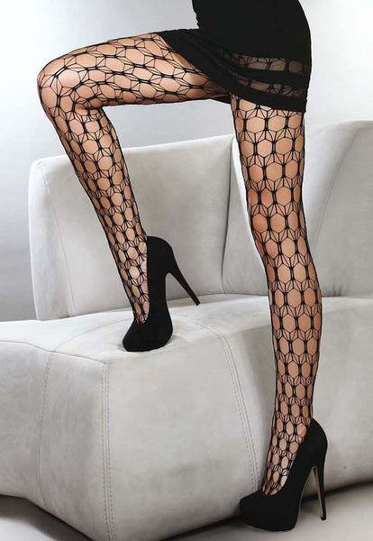 Adira Wide Honeycomb Lace Tights by Livia Corsetti