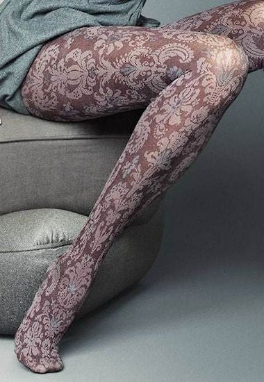 Alessia Jacquard Patterned Fashion Tights by Veneziana