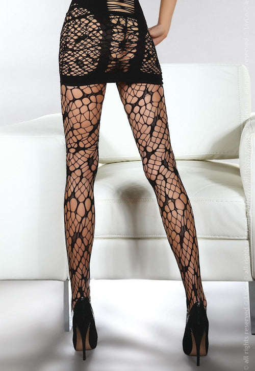Aliza Spider Web Lace Fishnet Tights by Livia Corsetti