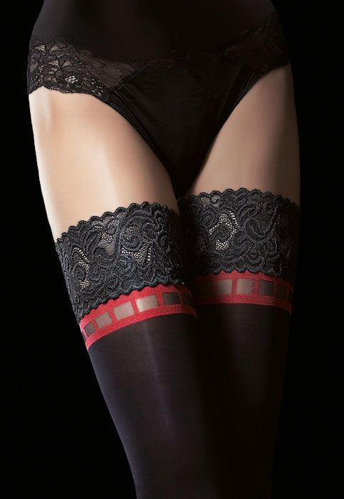 acb3678480a0c Alize 40 Denier Opaque Red Detail Hold-Ups by Fiore – Dress My Legs