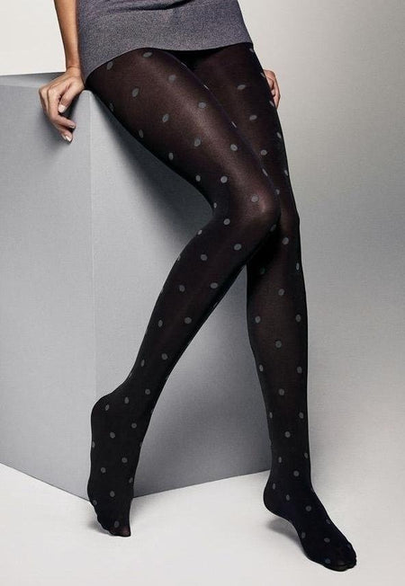 Jess Double Side Stripe Opaque Tights by Veneziana