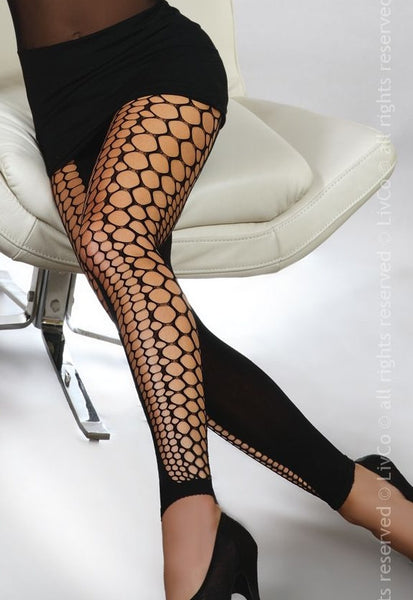 Anzu Honeycomb Leggings with Solid Panels by LivCo