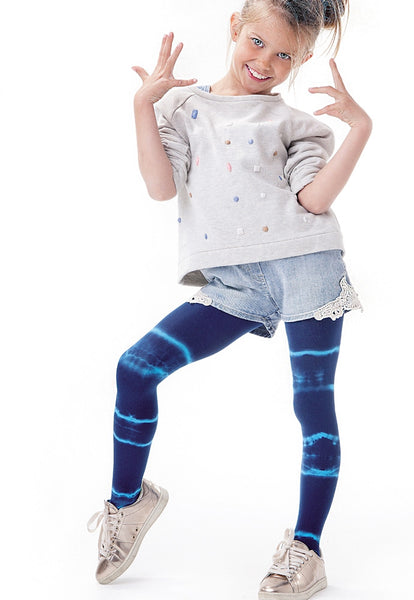 Aquarelle Tie Dye Girls' 60 Den Opaque Tights by Knittex