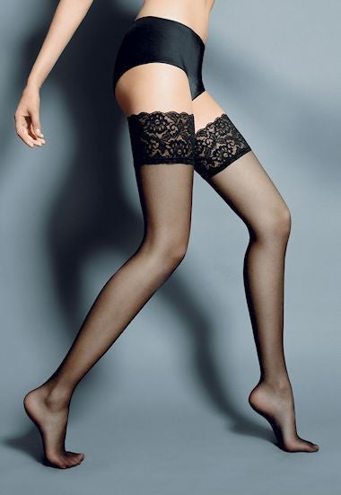358133d6edbeef Sheer patterned   seamed hold-ups   thigh-highs at Ireland s online ...