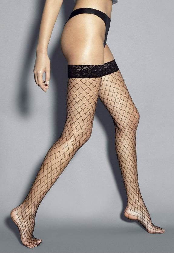 Ar Rete Grandi Wide Fishnet Hold-Ups by Veneziana