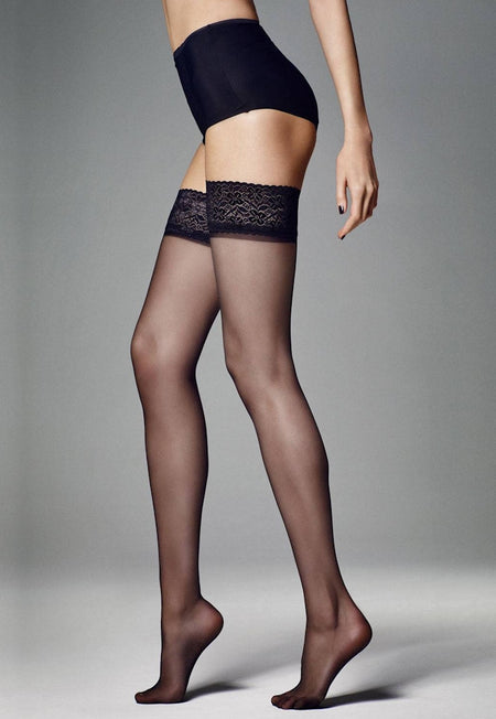 Sexy Strip Sheer Suspender Tights by Veneziana