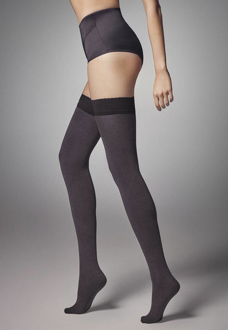 Zazu Music Notes Patterned Hold-Up Tights by Marilyn