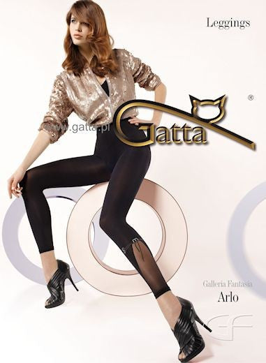 Arlo 01 Black Fashion Opaque Leggings by Gatta