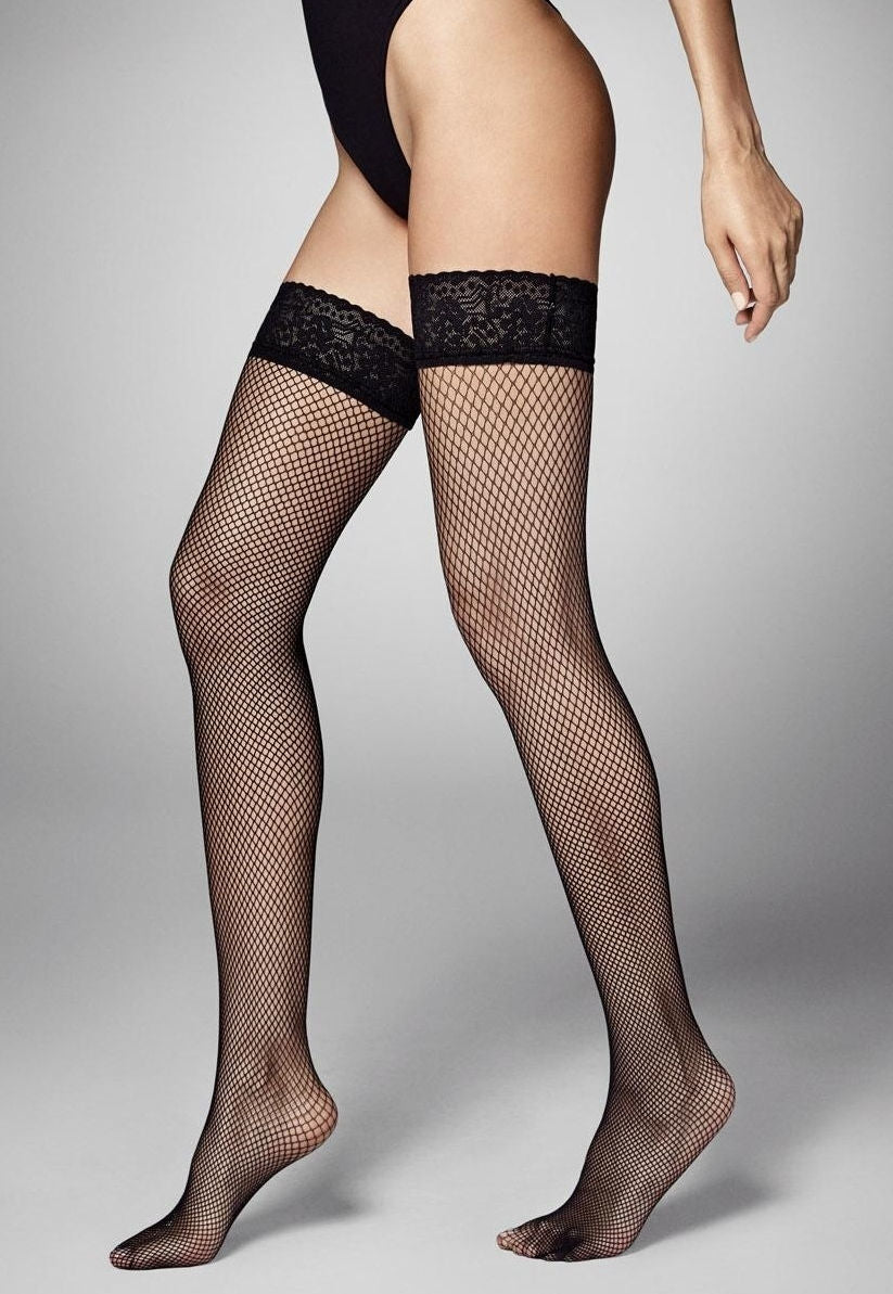 Ar Rete Fishnet Fashion Hold-Ups by Veneziana in black