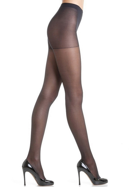 Attiva 40 Den Graduated Support Sheer Tights by Omsa in black