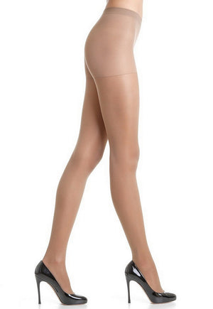Attiva 40 Den Graduated Support Sheer Tights by Omsa in daino nude tan