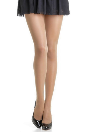 Beauty Slim 40 Den Control Top Sheer Tights by Omsa in caramello nude tan