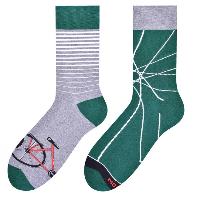 Bicycle Odd Socks in Green by More