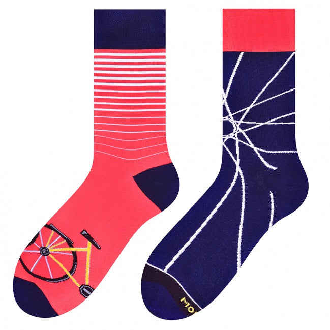 Bicycle Odd Socks in Raspberry by More