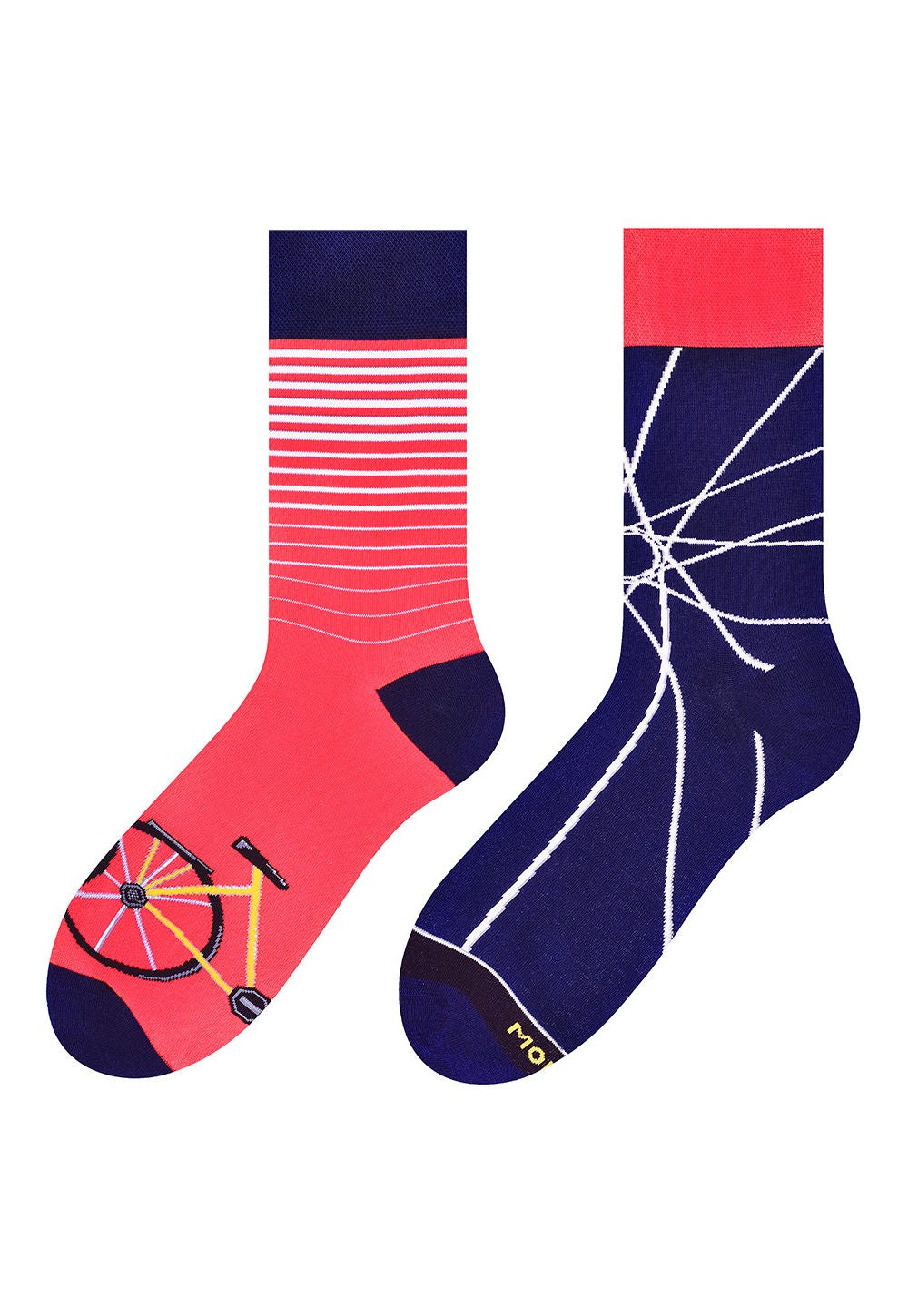 Bicycle Odd Patterned Socks in Navy & Red by More