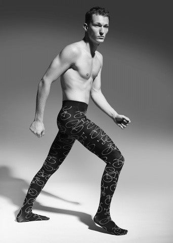 Bicycles Patterned Tights for Men by Adrian