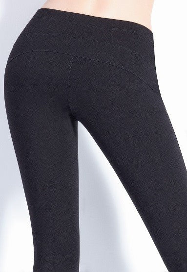 Black Skinny Fit Treggings with Panel Detailing