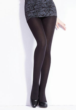 Blues 150 Den Black Opaque Sheer to Waist Tights by Giulia
