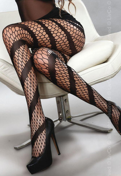 Bosma Spiral Honeycomb Stripe Tights by Livia Corsetti