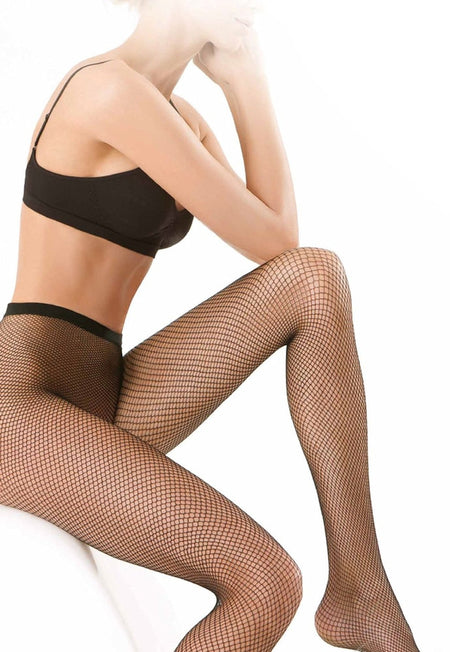 Rete Fishnet Patterned Knee-High Socks by Veneziana