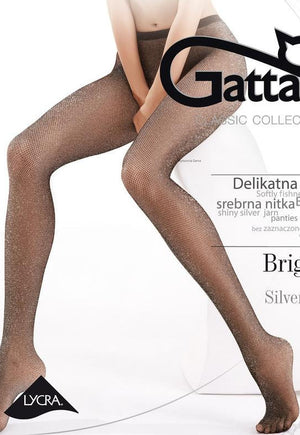Brigitte 02 Sparkly Lurex Fishnet Tights by Gatta