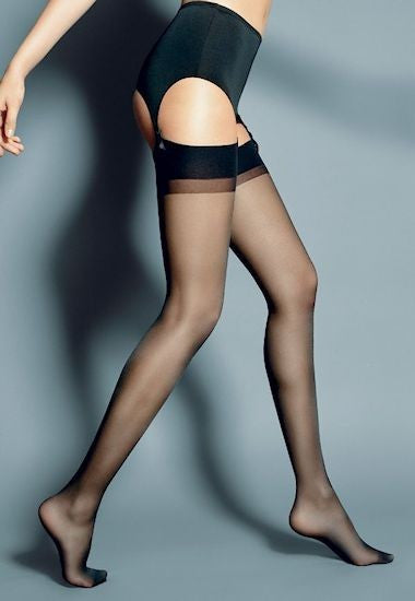 Esmeralda Contrast Welt Sheer Stockings by Veneziana