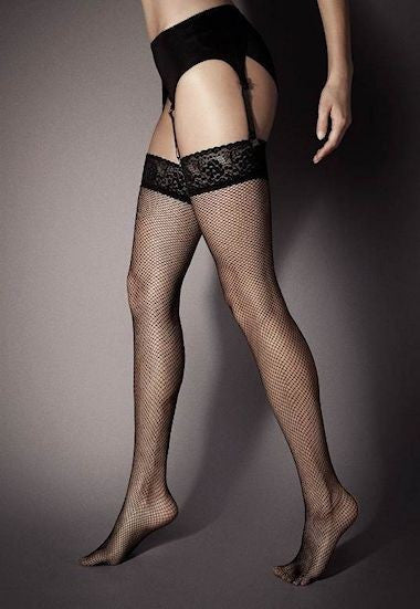 Anais Red Welt Seamed Sheer Stockings by Fiore