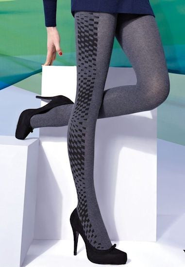 Costina II Wide Ribbed Cable Tights by Veneziana