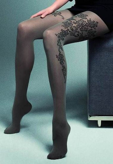 Carol Fashion Tights with Floral Design by Veneziana