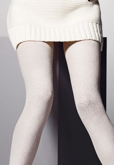 Chantal Textured Patterned Opaque Tights by Veneziana