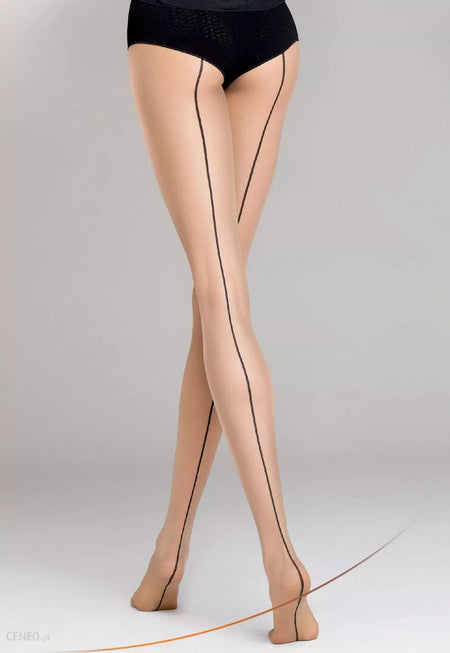 Cosmo Marl Opaque Tights with Silver Lurex Stripe by Fiore