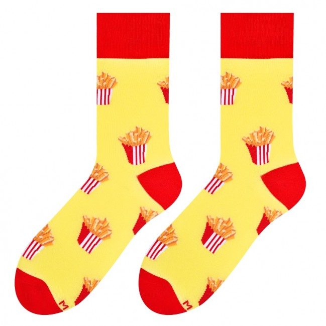 French Fries Socks in Yellow by More