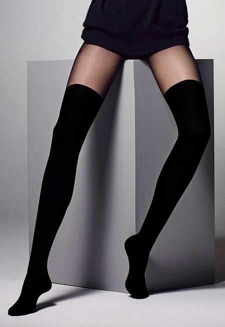 Finestra Mock Hold-Ups & Shorties Tights by Fiore