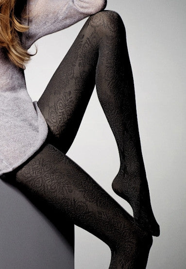Colette Baroque Patterned Opaque Tights by Veneziana