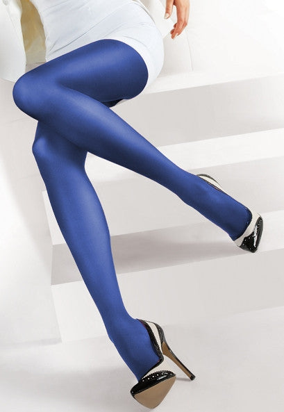 Concorde 60 Denier Coloured Opaque Tights in Bluette royal cobalt blue