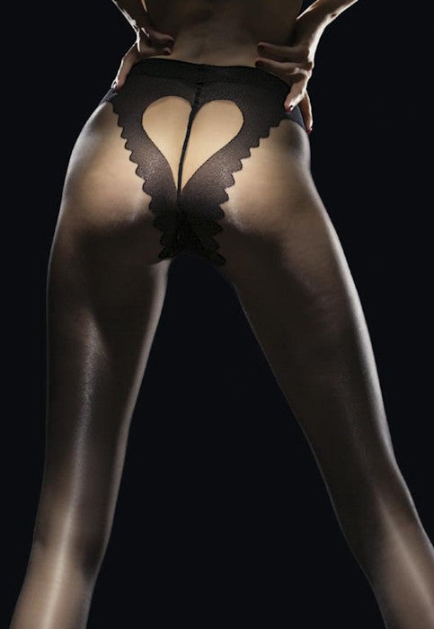 Corazon 20 Denier V-Brief Sheer Heart Tights by Fiore