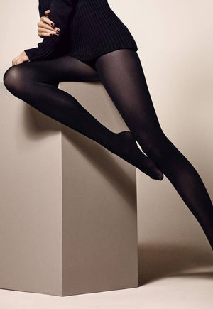 Cover 60 Denier 3D Matte Opaque Tights by Veneziana in black