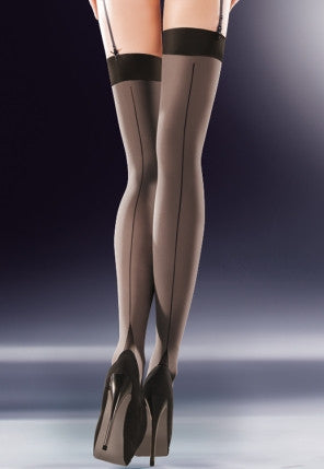 Cruze 50 Den Seamed Opaque Stockings by Gabriella