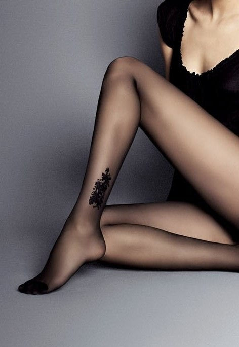 Doris Ankle Tattoo Fashion Tights by Veneziana