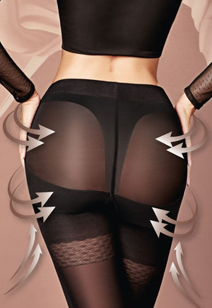 Effect Up 40 Den Body Modelling Tights by Giulia in black