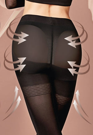 Effect Up 70 Den Body Modelling Tights by Giulia in black