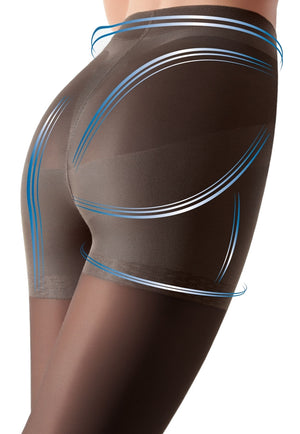 Effect Up 70 Den Body Modelling Tights by Giulia in dark tan