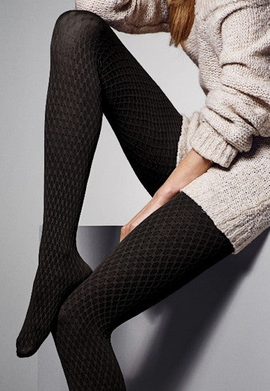 Victoria Diamond Patterned Fashion Tights by Veneziana