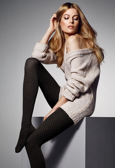 ad2d0bf4beb83 Elodie Diamond Patterned Textured Tights by Veneziana – Dress My Legs