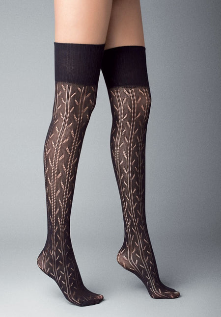 Cortina Knitted Fashion Over-Knee Socks by Veneziana
