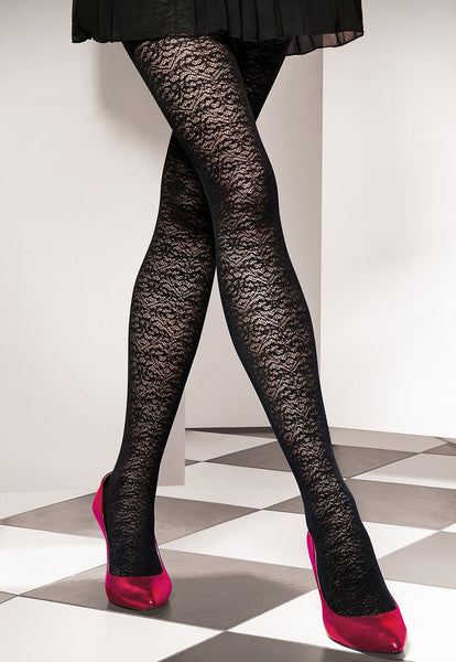 cb091f1841 Est Belle 02 Lace Patterned Opaque Tights by Gatta at Ireland's ...