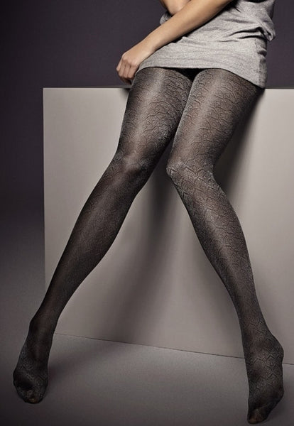 Evita Scales Patterned Shimmer Tights by Veneziana