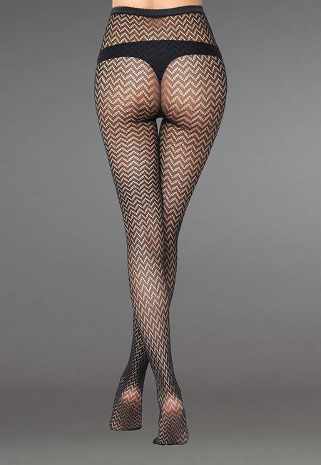 Floral Vine Patterned Lace Fishnet Tights (Pattern #03)